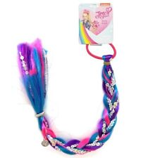 "New JoJo Siwa Sequin Braid 16"" Faux Extension Pink Purple Teal Hair Tie Ponytail"