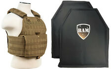 Level IIIA 3A | Body Armor Inserts | Bullet Proof Vest | Plate Carrier -TAN
