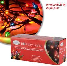 Multicolour Bulb Christmas Fairy Tree Lights Xmas Party Decoration + spare bulb