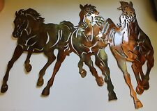 Running Free  Western Metal Wall Art Decor by HGMW
