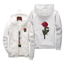 US STOCK Men Women Windbreaker Jacket Outdoor Sport Running Coat Lovers Clothing