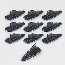 10X Carbon Car EVO-Style PP Roof Shark Fins Spoiler Wing Kit Vortex Generator
