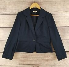 Talbots Petites Womens Size 12 Navy Blue Jacket