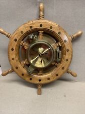 Nautical Ship Boat Steering Wheel Wall Clock