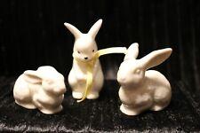 Vintage Omc Japan Bunny Set Antique Bunnies Porcelain