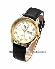 Omax Gents White Dial Watch, Day/Date, Silver/Gold Finish, Seiko (Japan) Movt.