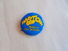 Cool Vintage Harmony Music in Our Schools Musical Theme Pinback
