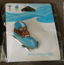 Quatchi miga Bobsleigh 1276 AUTHENTIC Vancouver 2010 Winter Olympic PIN new