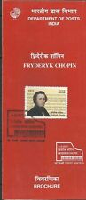Fredryk Chopin STAMPED FOLDER India classical Music Composer POLAND Piano musik