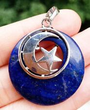 Lapis stone Moon Star Pendant Chakra Reiki Healing Amulet Energy