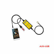 Digital USB MP3 Aux 3.5mm Interface Audio In Adapter For Camry Corolla Highland