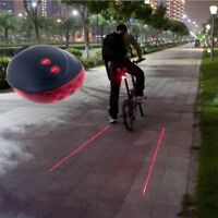 Light Rear Flashing Cycling Lamp Tail 5LED 2Laser Laser Bicycle Taillights