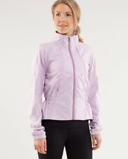 Lululemon Travel To Track Jacket Rose Quartz Jacquard Lavender Floral SIZE 6