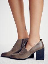 Free People Gray Terrah Heel Bootie Boots Size 7 EU37 NWOB S/O $198