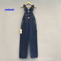 Bob Dong 40s Three-In-One Wabash Striped Overalls Vintage High Back Denim Pants
