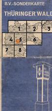 antico Aral Cartina geografica B. V Biglietto speciale Turingia Wald (aral11)