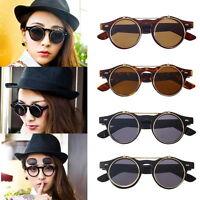 Hot Steampunk Goth Goggles Glasses Retro Flip Up Round Sunglasses Vintage HA
