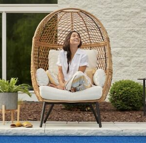 Better Homes and Gardens Boho Wicker Stationary Egg Chair