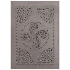 HOMESPUN blacken tin punched cabinet panel / 14 x10