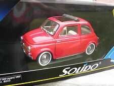 SOLIDO 1/18 METAL FIAT 500 Decouvrable Rouge 1/16