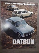 Original Vintage 1969 Datsun The world's best $2000 car! 4 2 door Sedans Wagon