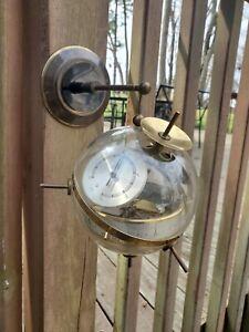Vintage Mid-Century Modern  Sputnik Weather West Germany Thermometer Barometer