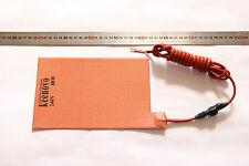 "5.5"" X 8.5"" 60W 240V KEENOVO Battery Heater Pad w/ 2m Cord + 0 Deg C Thermostat"
