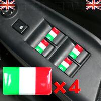 x4 Italian Flag 3D Stickers Italy Wheel Logo Fits Fiat 500 Alfa Vespa Styling