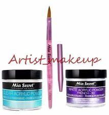 Mia Secret Acrylic Nail Powder White + Clear 2 oz + Kolinsky Brush# 8 OR