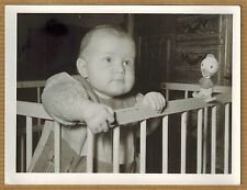 Photo 12 x 9 vintage snapshot enfant parc jouet Donald pouet Disney 1957 jp073