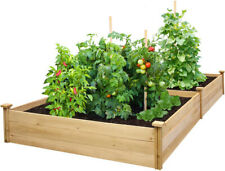 Greenes Fence Raised Garden Beds Cedar Planters Expandable Rectangle Natural