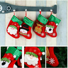 4PCS Santa Claus Stocking Bag Christmas Candy Gift Sack Snowman Xmas Ornaments