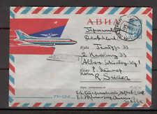 Stationery C11 Russia 1965 Cover Airmail International Aviation Plane TU-124