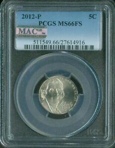 2012-P Jefferson Nickel PCGS MS66 FS MAC QUALITY✔️