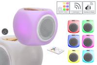 Mobiler Design-Lautsprecher mit Bluetooth, Akku, Farbwechsel  und Fernbedienung
