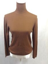 The Cashmere Company Brown Roll Neck Jumper Cashmere Marino wool Blend UK-16 B43