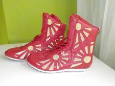 Acupuncture de diseño vintage botas Boot Trojan ultra red Gold gay lucha libre 43