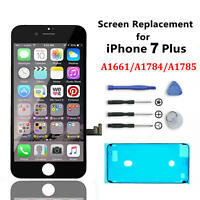 For iPhone 7 Plus Black Genuine Original OEM IC Screen Replacement LCD Digitizer