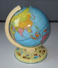 VINTAGE 1960/70s TIN PLATE DESKTOP POLITICAL WORLD GLOBE BY CHAD VALLEY