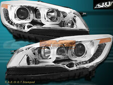 13-15 Ford Escape LED U Bar i8 Style Chrome Projector Headlights
