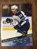 2020-21 UPPER DECK SERIES 1 YOUNG GUNS ROOKIE JANSEN HARKINS #229  JETS