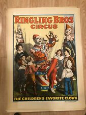Vintage Circus Posters Lot of 5 Ringling Brothers Barnum Bailey 1966