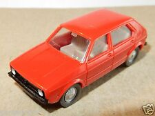 MICRO WIKING HO 1/87 VW VOLKSWAGEN GOLF rouge 5 portes no box