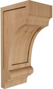 Ekena Millwork 5 1/2in W x 7in D x 14in H Diane Recessed Wood Corbel 2 Pack