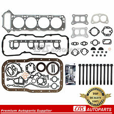 Fits NISSAN 2.4L L4 Z24 - FULL GASKET SET W/ HEAD BOLT+GASKET SILICON SEALANT