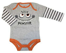 "Baby Halloween One Piece Bodysuit/Creeper ""Silly Monster"" Newborn Nwt Boy Girl"
