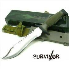 """12"""" SURVIVOR REVERSE SERRATED SAWBACK BOWIE W/ HARD MOLDED SHEATH & BELT LOOP"""