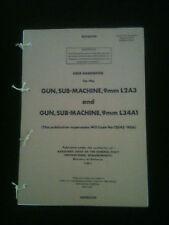 9mm Sterling SMG L2A3 L34A1 User Hand Book SAS PARAS COMMANDO FALKLANDS