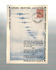 1947 Saumur France postcard Cover Aviaton Meeting Air Club