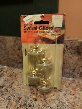 Nail-On Furniture Swivel Glides Floor Protectors